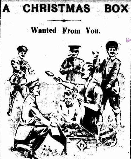 A CHRISTMAS BOX. (1916, September 15). The Colac Herald (Vic. : 1875 - 1918), p. 3. Retrieved December 9, 2012, from http://nla.gov.au/nla.news-article74473619