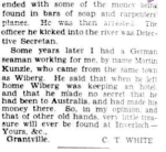 LETTERS FROM THE EDITOR'S POST-BAG. (1938, January 22). The Argus (Melbourne, Vic. : 1848 - 1956), p. 20 Supplement: The Argus Week-end Magazine. Retrieved December 17, 2012, from http://nla.gov.au/nla.news-article11142515