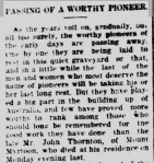 Late Mr. John Thornton. (1919, December 18). Camperdown Chronicle (Vic. : 1877 - 1954), p. 4. Retrieved December 27, 2012, from http://nla.gov.au/nla.news-article25362137