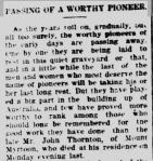 Late Mr. John Thornton. (1919, December 18). Camperdown Chronicle (Vic. : 1877 - 1954), p. 4. Retrieved December 27, 2012, from http://nla.gov.au/nla.news-article25362137