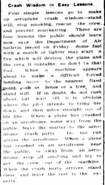 Crash Wisdom in Easy Lessons. (1942, April 13). Portland Guardian (Vic. : 1876 - 1953), p. 4 Edition: EVENING. Retrieved December 2, 2012, from http://nla.gov.au/nla.news-article64379670