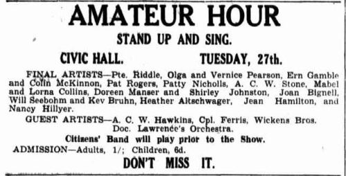 Advertising. (1942, October 24). Border Watch (Mount Gambier, SA : 1861 - 1954), p. 5. Retrieved January 15, 2013, from http://nla.gov.au/nla.news-article78118780
