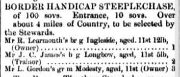 MOUNT GAMBIER RACES. (1864, July 29). Border Watch (Mount Gambier, SA : 1861 - 1954), p. 2. Retrieved February 17, 2013, from http://nla.gov.au/nla.news-article77009190