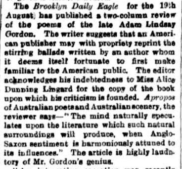 The Argus. (1877, October 18). The Argus (Melbourne, Vic. : 1848 - 1956), p. 4. Retrieved February 19, 2013, from http://nla.gov.au/nla.news-article5941600