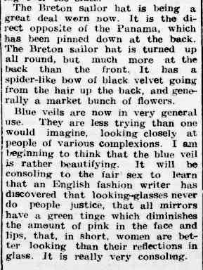 ABOUT HATS. (1904, March 18). The Colac Herald (Vic. : 1875 - 1918), p. 7. Retrieved February 25, 2013, from http://nla.gov.au/nla.news-article87354212