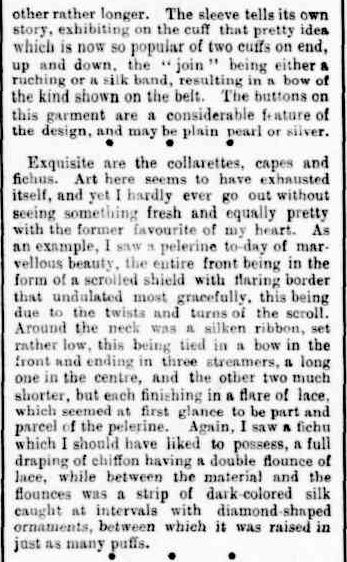 WOMAN'S WORLD. (1905, March 24). The Horsham Times (Vic. : 1882 - 1954), p. 1 Supplement: Supplement to the Horsham Times. Retrieved February 26, 2013, from http://nla.gov.au/nla.news-article72815249