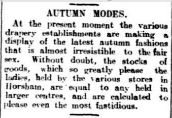 AUTUMN MODES. (1914, March 17). The Horsham Times (Vic. : 1882 - 1954), p. 3. Retrieved February 26, 2013, from http://nla.gov.au/nla.news-article72900577