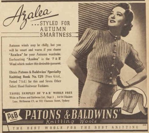 Advertising. (1941, April 26). The Australian Women's Weekly (1933 - 1982), p. 5. Retrieved February 27, 2013, from http://nla.gov.au/nla.news-article47484959