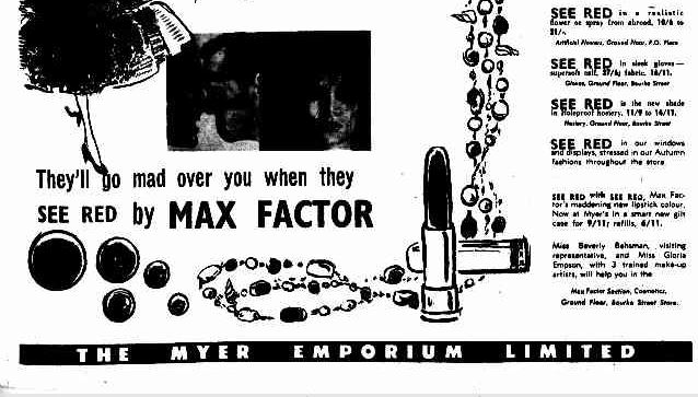 Advertising. (1955, March 25). The Argus (Melbourne, Vic. : 1848 - 1956), p. 21. Retrieved February 27, 2013, from http://nla.gov.au/nla.news-article71641049