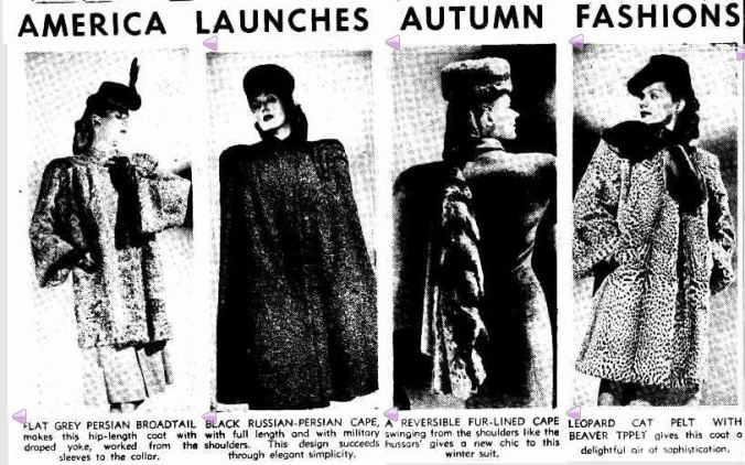 AMERICA LAUNCHES AUTUMN FASHIONS. (1944, November 28). The Argus (Melbourne, Vic. : 1848 - 1956), p. 8. Retrieved February 28, 2013, from http://nla.gov.au/nla.news-article11372401