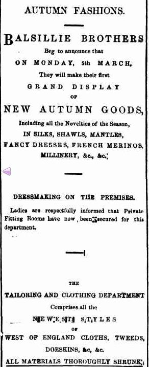 Advertising. (1866, March 15). Bendigo Advertiser (Vic. : 1855 - 1918), p. 2. Retrieved February 24, 2013, from http://nla.gov.au/nla.news-article87959303