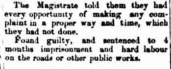 POLICE COURT. (1856, October 15). Portland Guardian and Normanby General Advertiser (Vic. : 1842 - 1876), p. 2 Edition: EVENING.. Retrieved February 13, 2013, from http://nla.gov.au/nla.news-article64567037