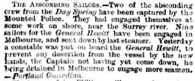 SHIPPING INTELLIGENCE. (1856, November 27). The Argus (Melbourne, Vic. : 1848 - 1956), p. 4. Retrieved February 13, 2013, from http://nla.gov.au/nla.news-article7140721