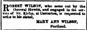 Advertising. (1857, September 4). Portland Guardian and Normanby General Advertiser (Vic. : 1842 - 1876), p. 3 Edition: EVENING. Retrieved February 13, 2013, from http://nla.gov.au/nla.news-article64569266