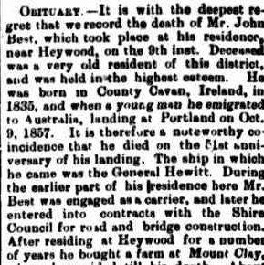 First Issue, August 20, 1842. (1907, October 14). Portland Guardian (Vic. : 1876 - 1953), p. 2 Edition: EVENING. Retrieved February 13, 2013, from http://nla.gov.au/nla.news-article63967003