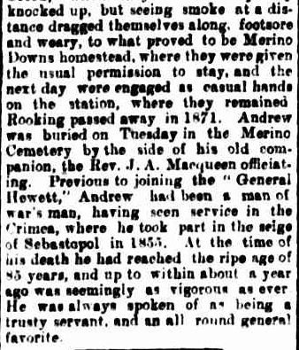 Passed Away. (1918, October 10). The Casterton News and the Merino and Sandford Record (Vic. : 1914 - 1918), p. 3 Edition: Bi-Weekly.. Retrieved February 13, 2013, from http://nla.gov.au/nla.news-article74222260