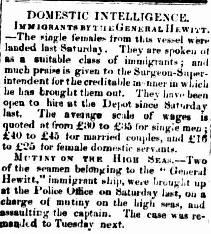 DOMESTIC INTELLIGENCE. (1856, October 13). Portland Guardian and Normanby General Advertiser (Vic. : 1842 - 1876), p. 2 Edition: EVENING.. Retrieved February 13, 2013, from http://nla.gov.au/nla.news-article64567019
