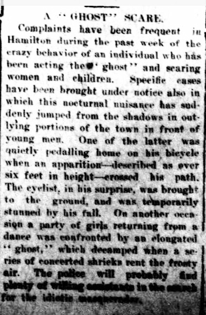 "A ""GHOST"" SCARE. (1922, June 6). The Horsham Times (Vic. : 1882 - 1954), p. 4. Retrieved February 19, 2013, from http://nla.gov.au/nla.news-article72732250"