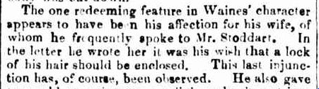 EXECUTION OF THE CONVICT WAINES. (1860, July 18). Bendigo Advertiser (Vic. : 1855 - 1918), p. 3. Retrieved February 4, 2013, from http://nla.gov.au/nla.news-article87945170