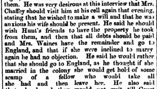 THE CASTERTON MURDER. (1860, April 30). The South Australian Advertiser (Adelaide, SA : 1858 - 1889), p. 3. Retrieved February 6, 2013, from http://nla.gov.au/nla.news-article1204764