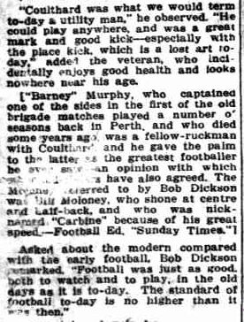 The Greatest Footballer Ever!. (1937, July 25). Sunday Times (Perth, WA : 1902 - 1954), p. 13 Section: First Section. Retrieved March 26, 2013, from http://nla.gov.au/nla.news-article58785233