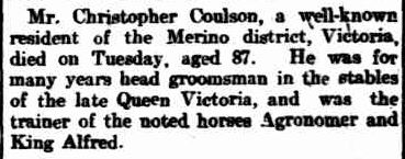 PERSONAL. (1904, July 28). The Advertiser (Adelaide, SA : 1889 - 1931), p. 6. Retrieved March 6, 2013, from http://nla.gov.au/nla.news-article4991780