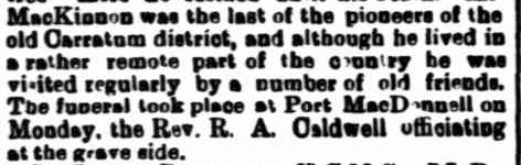 OBITUARY. (1906, September 5). Border Watch (Mount Gambier, SA : 1861 - 1954), p. 3. Retrieved March 6, 2013, from http://nla.gov.au/nla.news-article77583891
