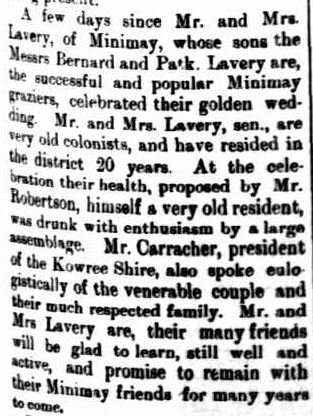 SOCIAL. (1900, February 27). The Horsham Times (Vic. : 1882 - 1954), p. 1. Retrieved March 7, 2013, from http://nla.gov.au/nla.news-article75063691