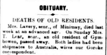 OBITUARY. (1903, August 11). The Horsham Times (Vic. : 1882 - 1954), p. 3. Retrieved March 7, 2013, from http://nla.gov.au/nla.news-article72841100