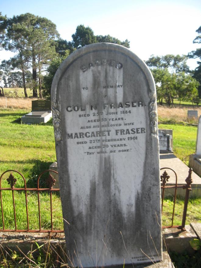 GRAVE OF COLIN &     FRASER, BYADUK CEMETERY