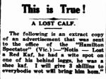 This is True!. (1939, August 17). Albany Advertiser (WA : 1897 - 1950), p. 6. Retrieved March 5, 2013, from http://nla.gov.au/nla.news-article70410510