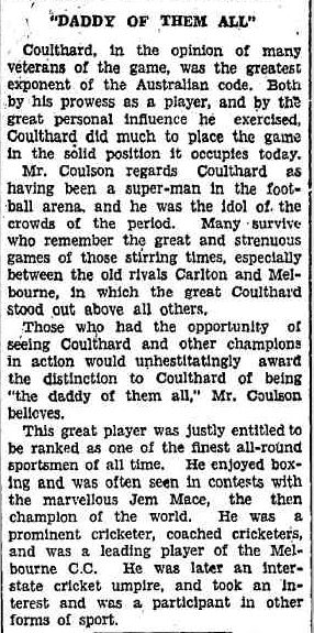 CHAMPION OLD-TIMER. (1929, July 13). The Daily News (Perth, WA : 1882 - 1950), p. 4 Edition: FINAL SPORTING EDITION. Retrieved March 26, 2013, from http://nla.gov.au/nla.news-article82981723