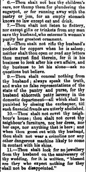 THE HUSBAND'S COMMAND. (1872, May 11). Bunyip (Gawler, SA : 1863 - 1954), p. 4. Retrieved April 28, 2013, from http://nla.gov.au/nla.news-article97206557