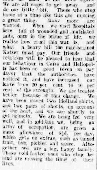 Our Men at the Front. (1915, August 21). Brighton Southern Cross (Vic. : 1914 - 1918), p. 3. Retrieved April 23, 2013, from http://nla.gov.au/nla.news-article75045296