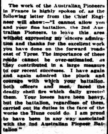 The Chronicle. (1918, July 20). Williamstown Chronicle (Vic. : 1856 - 1954), p. 2. Retrieved April 24, 2013, from http://nla.gov.au/nla.news-article69681288