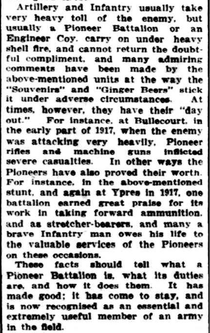 A PIONEER BATTALION. (1918, July 13). Williamstown Chronicle (Vic. : 1856 - 1954), p. 3. Retrieved April 24, 2013, from http://nla.gov.au/nla.news-article69681256