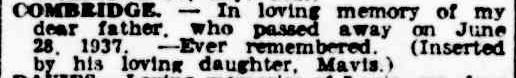 Family Notices. (1947, June 28). The Argus (Melbourne, Vic. : 1848 - 1957), p. 11. Retrieved April 25, 2013, from http://nla.gov.au/nla.news-article22436539