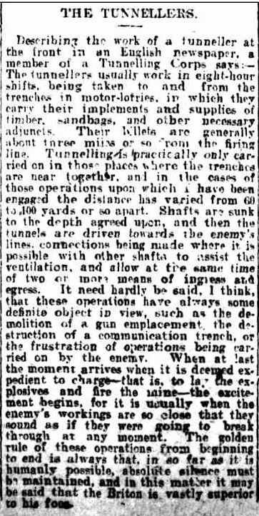 NEWS OF THE DAY. (1916, July 22). The Mercury (Hobart, Tas. : 1860 - 1954), p. 6. Retrieved April 25, 2013, from http://nla.gov.au/nla.news-article1023967