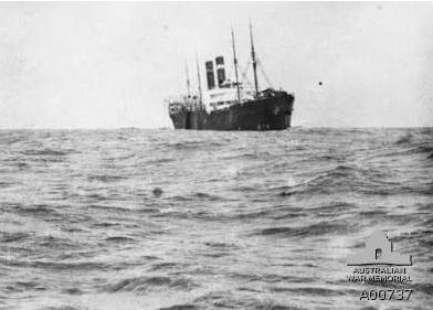 The Troopship Soutland.  Image courtesy of the Australian War Memorial Id No.A00737http://www.awm.gov.au/collection/A00737/