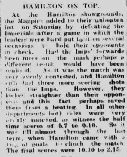 HAMILTON ON TOP. (1948, June 10). Portland Guardian (Vic. : 1876 - 1953), p. 4 Edition: EVENING. Retrieved April 8, 2013, from http://nla.gov.au/nla.news-article64415146