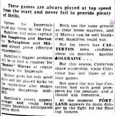 Imperials may jain the lour tomorrow. (1956, May 11). The Argus (Melbourne, Vic. : 1848 - 1956), p. 23. Retrieved April 9, 2013, from http://nla.gov.au/nla.news-article71802250