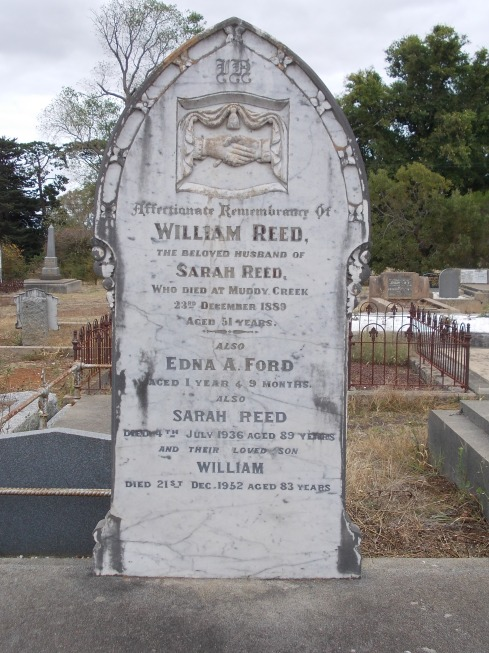 REED GRAVE, HAMILTON OLD CEMETERY