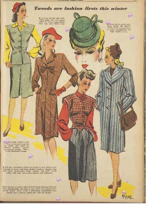 Tweeds are fashion firsts this winter. (1944, May 27). The Australian Women's Weekly (1933 - 1982), p. 19. Retrieved May 31, 2013, from http://nla.gov.au/nla.news-article47218844