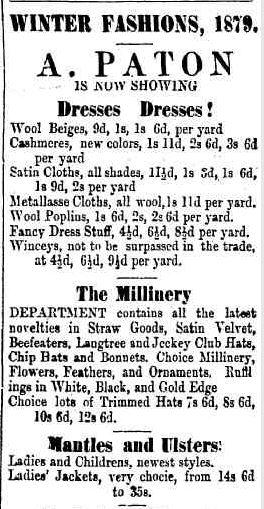 Advertising. (1879, July 25). Camperdown Chronicle (Vic. : 1877 - 1954), p. 3. Retrieved May 30, 2013, from http://nla.gov.au/nla.news-article29098359