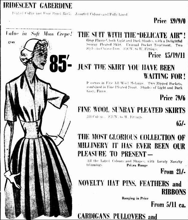 Advertising. (1953, March 27). The Horsham Times (Vic. : 1882 - 1954), p. 6. Retrieved May 31, 2013, from http://nla.gov.au/nla.news-article72766479