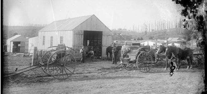Buggies outside blacksmith's shop. Image courtesy of the State Library of Victoria - Elliot collection. http://handle.slv.vic.gov.au/10381/42869