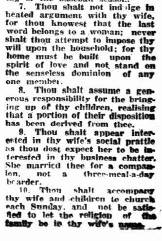 TWENTY MORE COMMANDMENTS. (1928, January 14). Mirror (Perth, WA : 1921 - 1956), p. 12. Retrieved May 6, 2013, from http://nla.gov.au/nla.news-article76410193