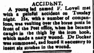ACCIDENT. (1906, September 28). Portland Guardian (Vic. : 1876 - 1953), p. 3 Edition: EVENING. Retrieved May 9, 2013, from http://nla.gov.au/nla.news-article63963309