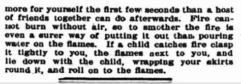 What to do in [?]ase of Catching Fire. (1900, May 12). Australian Town and Country Journal (NSW : 1870 - 1907), p. 43. Retrieved May 4, 2013, from http://nla.gov.au/nla.news-article71380496