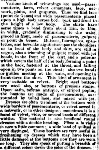 FASHIONS FOR JANUARY. (1860, March 19). The Argus (Melbourne, Vic. : 1848 - 1957), p. 6. Retrieved June 1, 2013, from http://nla.gov.au/nla.news-article5679112